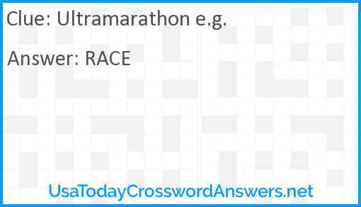 Ultramarathon e.g. Answer