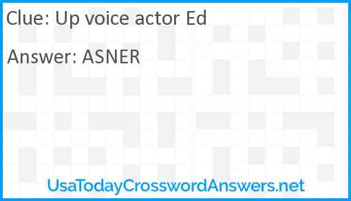 Up voice actor Ed Answer