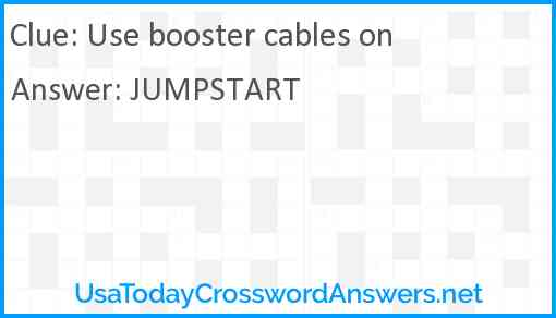 Use booster cables on Answer