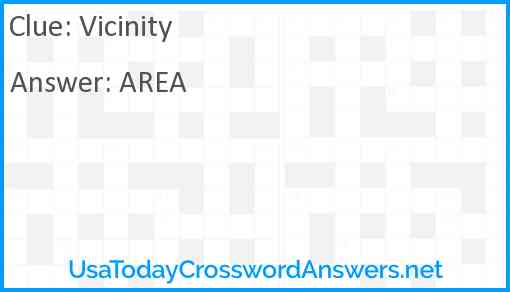 Vicinity Answer