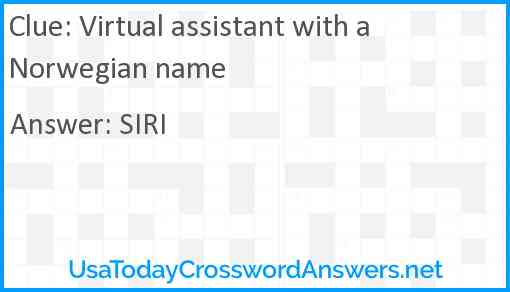 Virtual assistant with a Norwegian name Answer