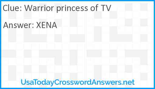 Warrior Princess of TV Answer