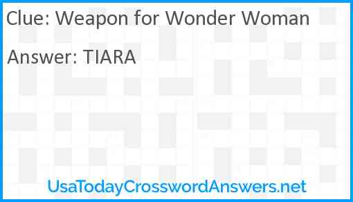 Weapon for Wonder Woman Answer
