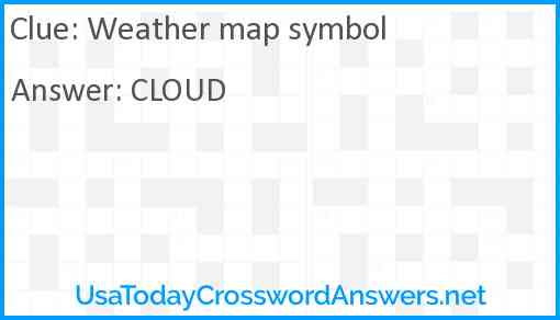 Weather map symbol Answer