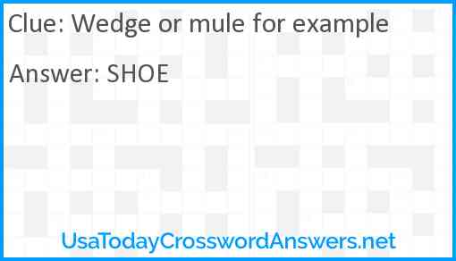 Wedge or mule for example Answer