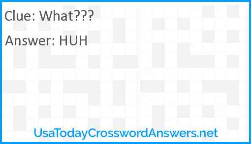What??? Answer