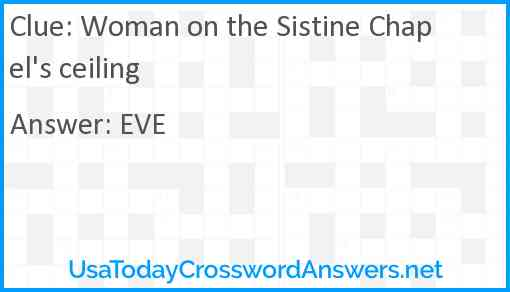 Woman on the Sistine Chapel's ceiling Answer