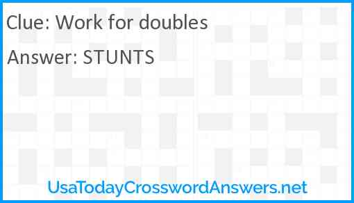 Work for doubles Answer