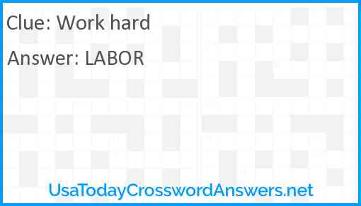 Work hard Answer