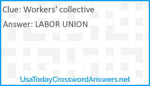 Workers' collective Answer