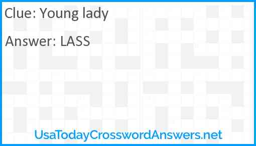 Young lady Answer